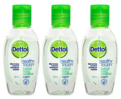 3 x Dettol Hand Sanitiser Original 50mL