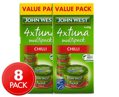 2 x John West Tuna Tempters Chilli 4pk