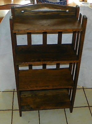 Quartersawn Oak Arts & Crafts Mission Bookshelf / Bookcase  (SH50)