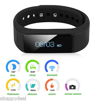 OLED Smart Watch Fitness Bracciale Orologio Da Polso Per iPhone IOS Android IT