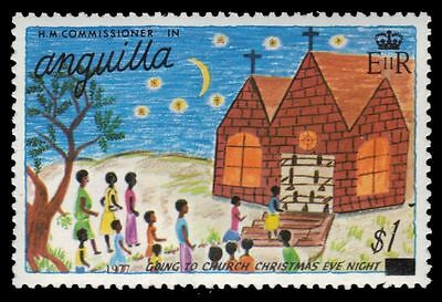 "ANGUILLA 309 (SG312) - Christmas Drawings ""Going to Church"" (pf19800)"