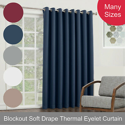 Quickfit Blockout Eyelet Soft Drape Thermal Weave Washable Fabric Curtain Panel