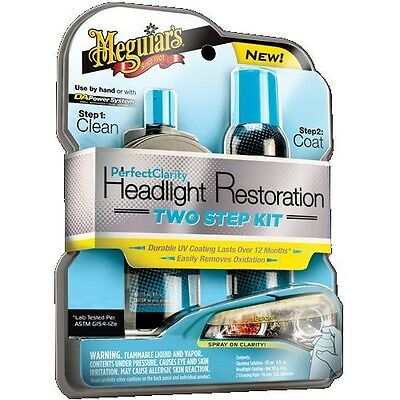 Meguiar's G2000 Perfect Clarity Two-Step Headlight Restoration Kit, Clean & Coat