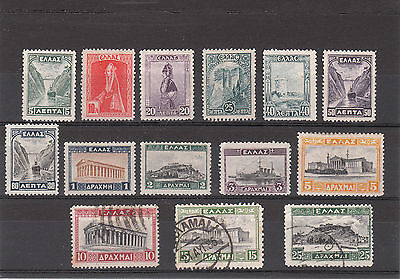 Greece,Mint/Used Set Of Greek Landscapes Stamps from 1927