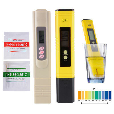 Digital pH Meter +  Tester Aquarium Pool Hydroponic Monitor Water Purity Pen