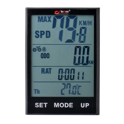 "2.7"" LCD Display Bicycle Computer Bike Cycling Wireless Odometer Wireless CS450"