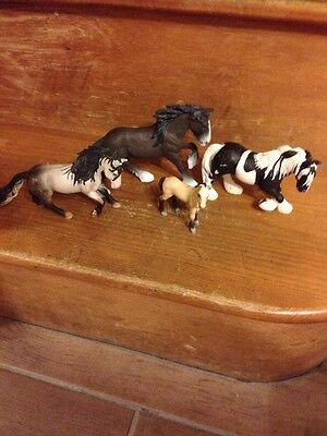 schleich horses 4 Collectable Horses