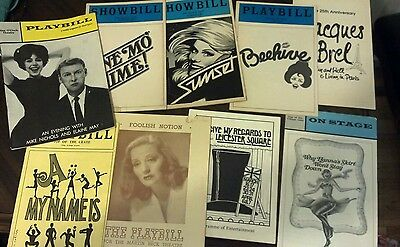 GREAT VINTAGE PLAYBILL SHOWBILL LOT HTF TITLES Broadway & Off 1940s -1980s etc