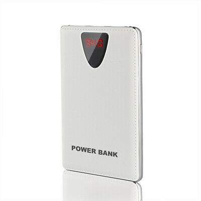 AU Portable Slim 50000mAh External 3USB Power Bank 2LED LCD Pack Battery Charger