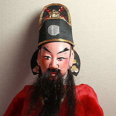 Old Antique Chinese Qing Dynasty Silk Embroidered Opera Doll Puppet/ Od001