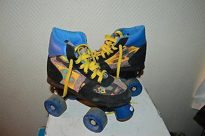 Patin A Roulette  Quad Holy  Taille 33  Roller Skate Vintage