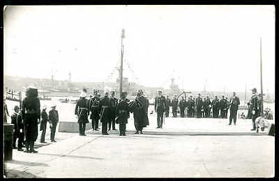 "HMS ""RENOWN"" Battlecruiser at MALTA, Royal Visit by HRH Prince of Wales. 1921 RP"