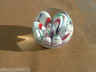 Glass Paperweight Nice With Multi Colors
