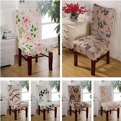 Removable Stretch Floral Chair Cover Kitchen Dining Room Wedding Banquet Party
