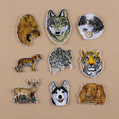 Sew Iron On Patch Badge Embroidered Appliques Animal Motif
