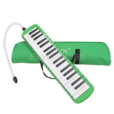 Green 37 Keys Melodica Musical Instrument Beginners Students Childrens Gift