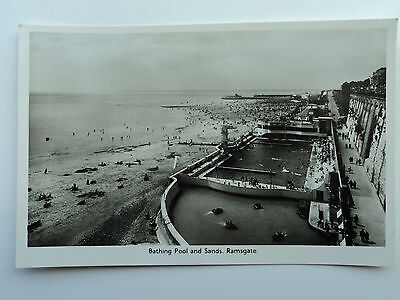 A.H.& S. Paragon vintage B&W RP PC Bathing Pool and Sands, Ramsgate. Kent.