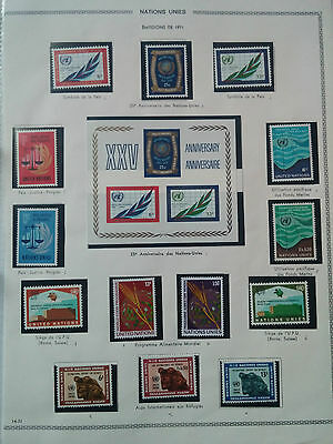 G174. Timbres 1971 Nations Unies. Neufs** Stamps United Nations Mnh.