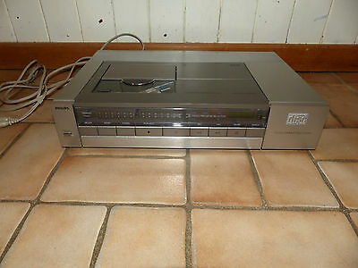 Philips CD 202 CD Player Compact Disc Player silber