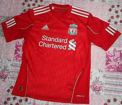 """BOY'S OFFICIAL """"ADIDAS"""" LIVERPOOL FC FOOTBALL SHIRT #10 WRIGHTY (13-14 years)"""