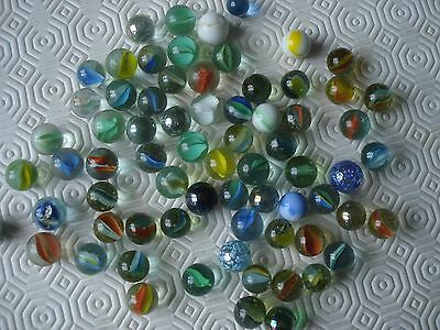 Collection of 70 vintage marbles