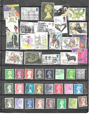 Great Britain Gb 45 Diff Different Postally Used Stamp Collection Lot Set Packet