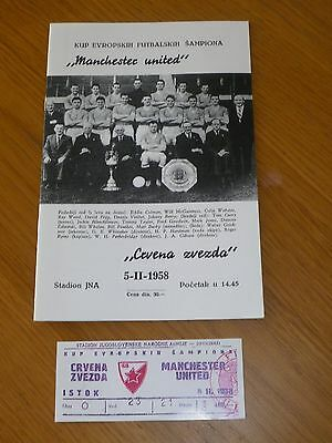 **LAST GAME FOR THE BABES***RED STAR BELGRADE  V MANCHESTER UNITED 5th  FEB 1958