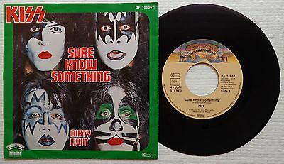 "KISS 'Sure Know Something' 1979 German 7""/45 rpm vinyl single"