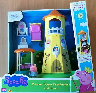 Peppa Pig Princess Peppa's Rose Garden and Tower (NEW IN DAMAGED BOX)