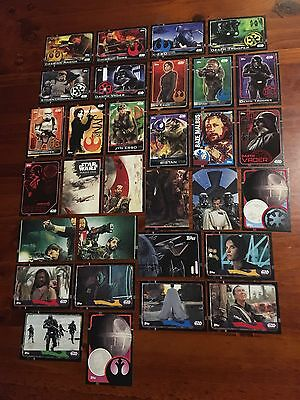 Star Wars - Rogue One (TOPPS collector cards) 31 x Cards Big Bulk Mixed Lot 1