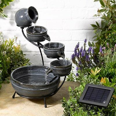Aphrodite Ceramic Solar Powered Cascade Garden and Patio Water Feature Ideal Gif