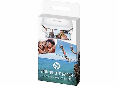 "HP ZINK Sticky-Backed Photo Paper For Sprocket Mini Printer 2 Packs 2"" x 3"""