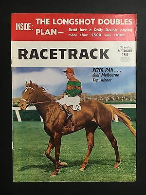 Racetrack Magazine Sept 1968 Front & Back Cover Only, Peter Pan