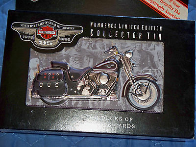 Harley Davidson   95th Anniversary  NUMBERED  Playing Cards  (second number)