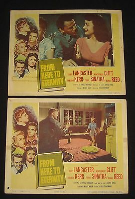 1953 From Here to Eternity Lobby Cards Lancaster Clift  Sinatra   Reed #BH32