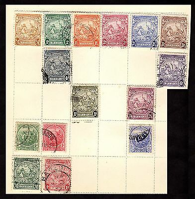Stamps ~ BARBADOS High Values ~ CLASSIC Early UNSORTED #2