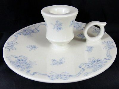Laura Ashley Ribbons Blue & White Chamber Stick