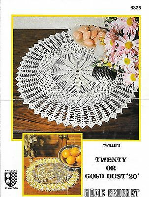 Twilley Pattern 6325 Crochet Centre and Oval Mat