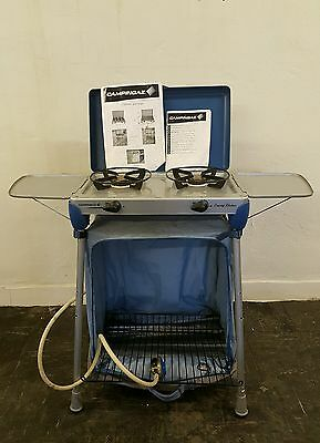 CAMPINGAZ Camping Stove Double Kitchen BBQ Extra With Carry Bag table top