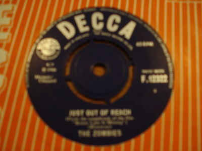 Zombies - Just Out Of Reach Orig 1966 Uk Decca F.12322 Ex+ Rare Freakbeat Mod