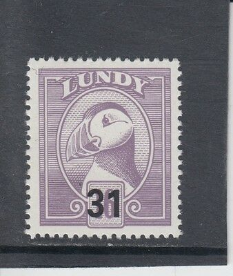 #05 Great Britain Lundy Island Puffin Stamp 1990 Provisional Overprint