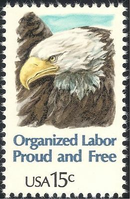 USA 1980 Workers/Trade Unions/Eagle/Raptors/Birds/People/Nature 1v (n43719)