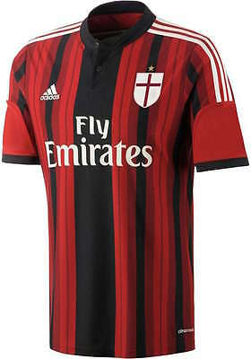 Ac Milan Adidas Football Jersey Shirt red Black 2014 15 Home Men