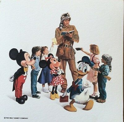 Disney Charles Boyer Davy Crockett Mickey Minnie Donald Art Print