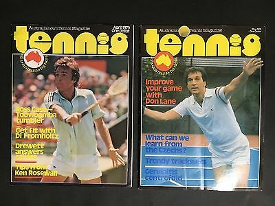 Tennis Australia's Own Tennis Magazine April, May 1979 With Posters