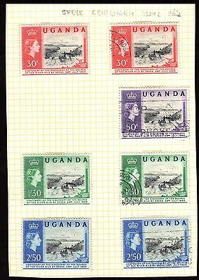Stamps ~ UGANDA Centenary Discovery SOURCE OF NILE by SPEKE  ~ 1962 Used Unused