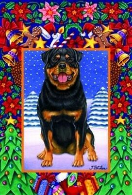Large Indoor/Outdoor Christmas Flag - Rottweiler (TP) 68002