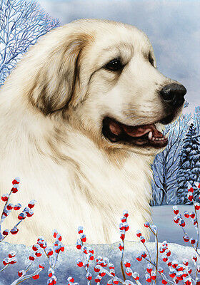 Large Indoor/Outdoor Winter Flag - Great Pyrenees 15146