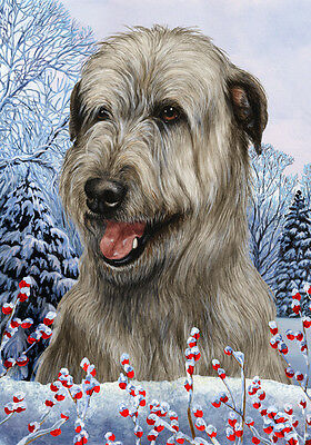 Large Indoor/Outdoor Winter Flag - Grey Irish Wolfhound 15329