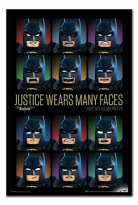 Framed Lego Batman Justice Wears Many Faces Film Poster New